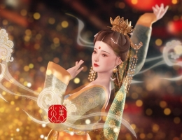 【炎美sims-MOD】唐宋风莲花冠系列9件(头发/发冠/流苏/观音纱/花环/发带/动作小件