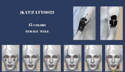 [KAT]又是拍照必備的臉部紋身!有chic的火焰!有小清新的文字昆蟲圖案~
