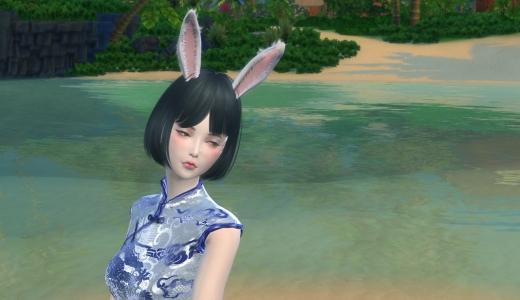 导模—闪闪发光的旗袍+高跟鞋+萌萌兔耳朵