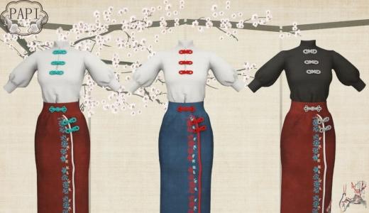【ASH+PAPI+333】中国风联动-刺绣国风长裙