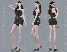 【北城出品】wild babes body preset  狂野女孩 动漫级魔鬼身材预设