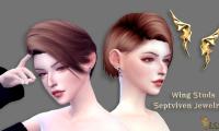 【Septviven】金属翅膀耳钉