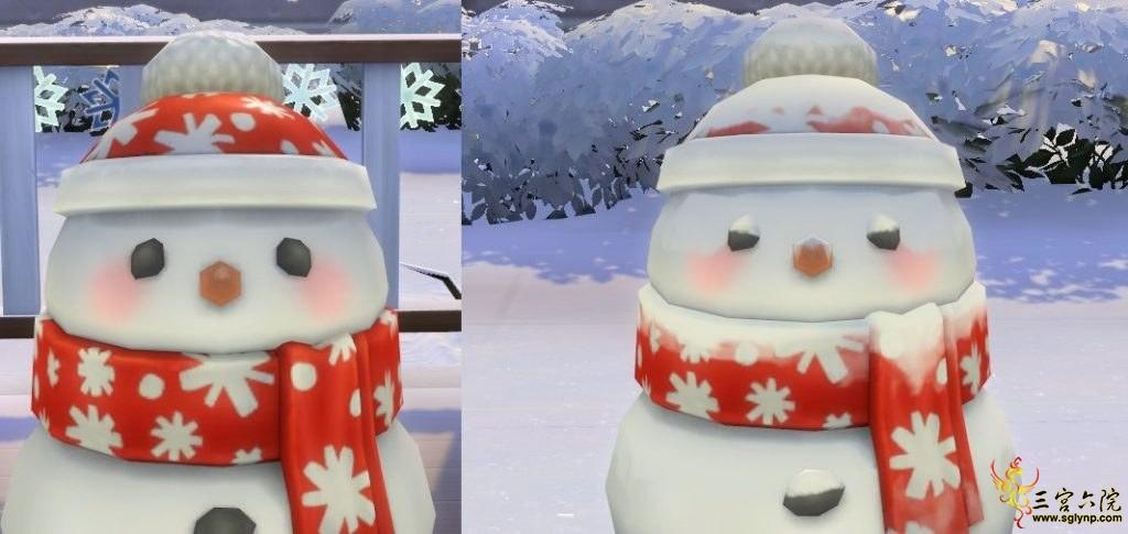 可以堆可爱的小雪人!!