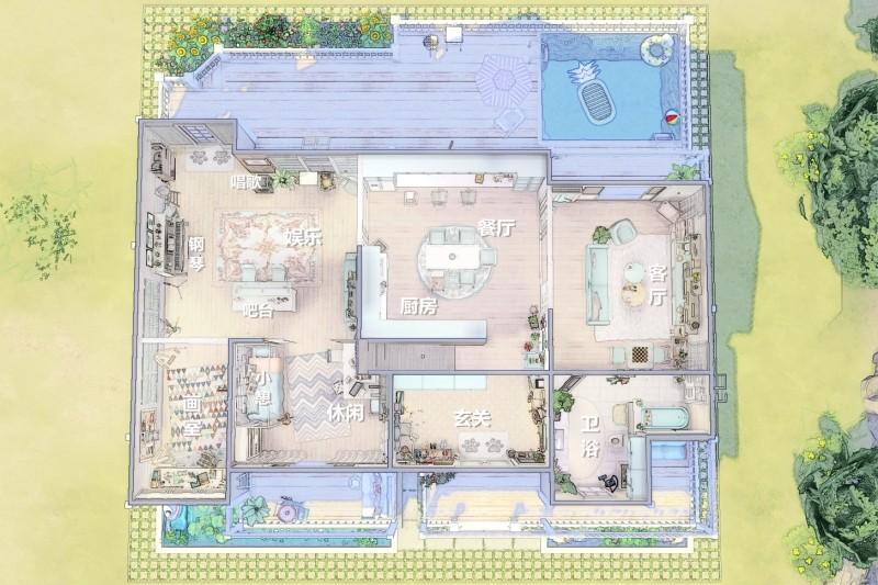 【鲁班组】苏念 ʚ KYKIO ɞ 原创房屋 ✿ 含cc_家庭式公寓/1.4G