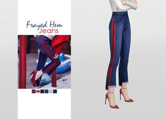 [WAEKEY] Frayed Hem Jeans.png