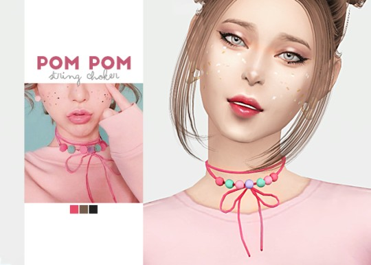 [WAEKEY] Pom Pom String Choker.png