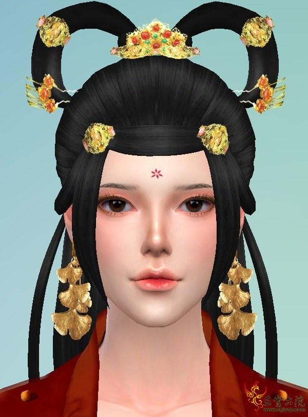 【viven】自制两款眼部装饰和两款花钿
