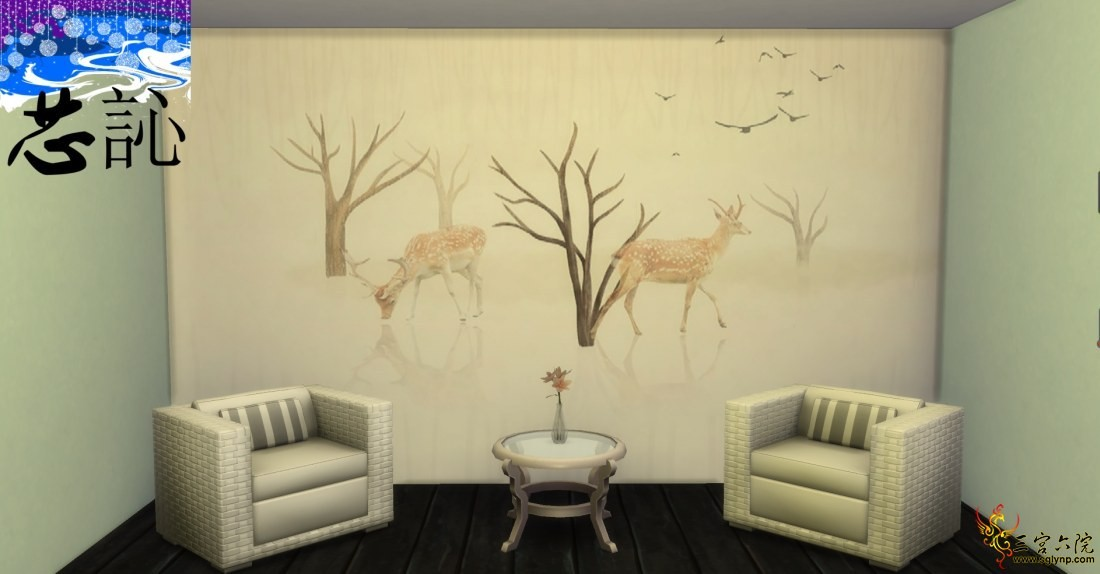 【芯訫】连续壁纸《林中小鹿3》