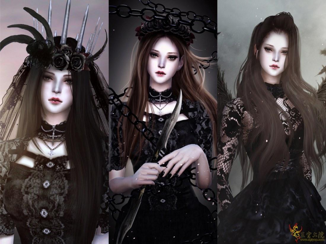 【ElaineVV】 ♥ 哥特暗黑少女妝容套裝 ♥