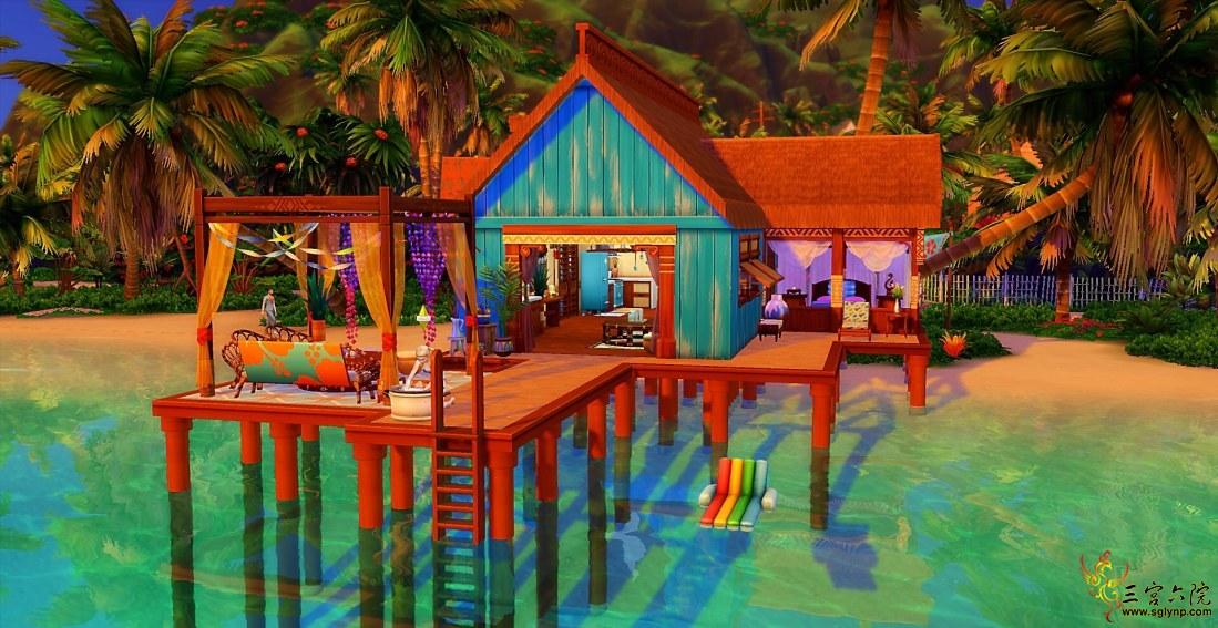 【鲁班组】【Nova原创】沙滩独居小屋(30*20 NOCC)