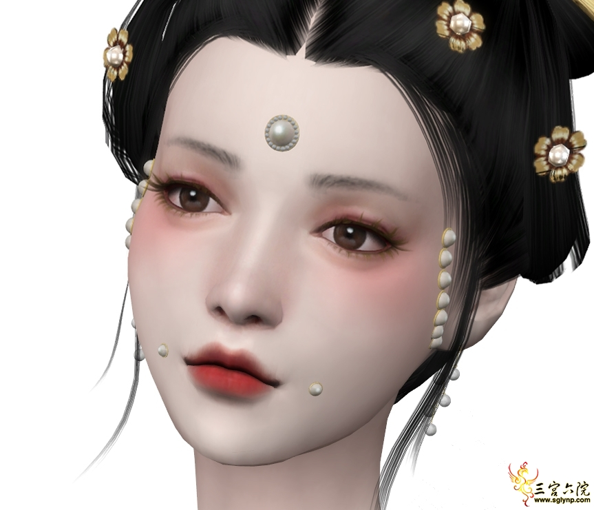 [S.Qing]Song Dynasty - Facial Pearl Accessories - FM.jpg