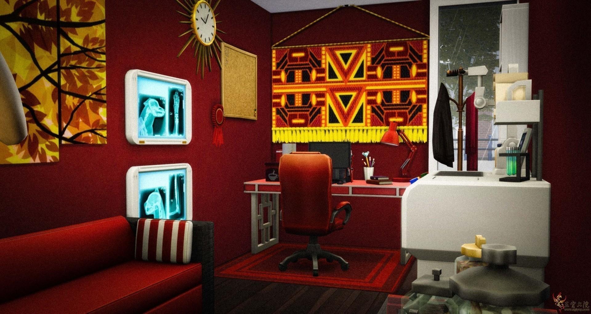 红色办公室