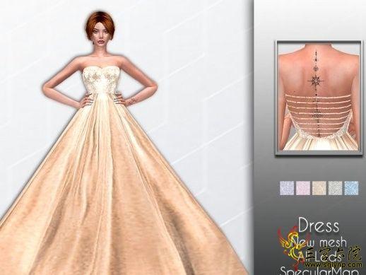 礼服裙模特图