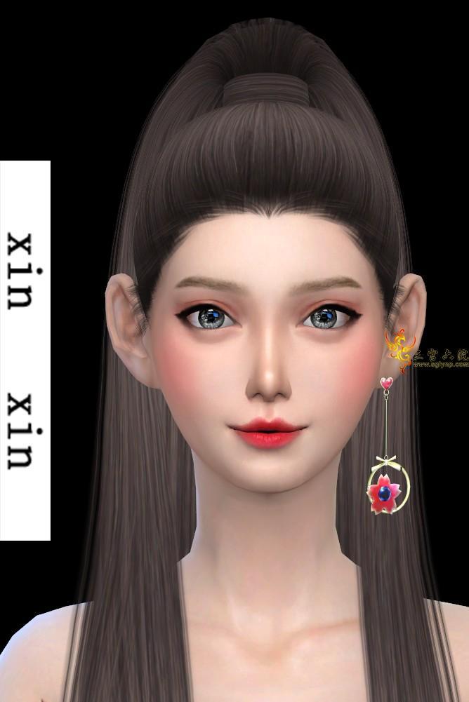 [xinxin]long Left cherry blossoms Earrings.png