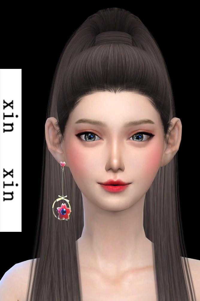 [xinxin]long right cherry blossoms Earrings.png