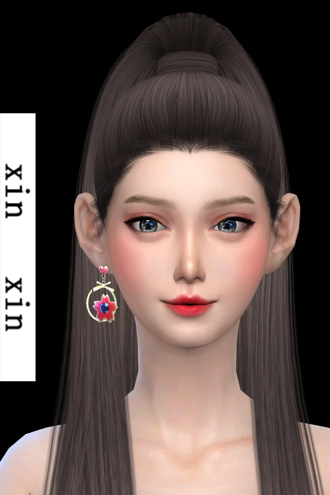[xinxin]short right cherry blossoms Earrings.png