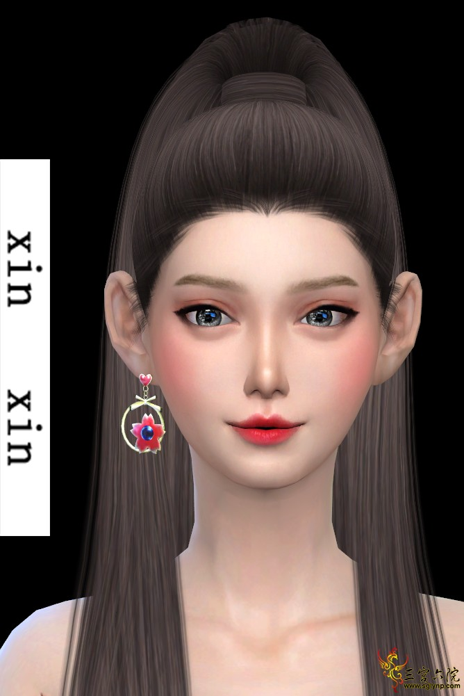 [xinxin]short right cherry blossoms Earrings.png
