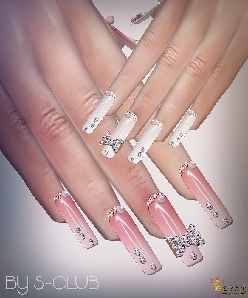 S-Club ts4 Nails Art.png