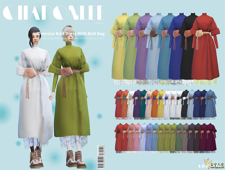 [CHARONLEE]2020-060-Over size Knit Dress With Belt Bag.jpg