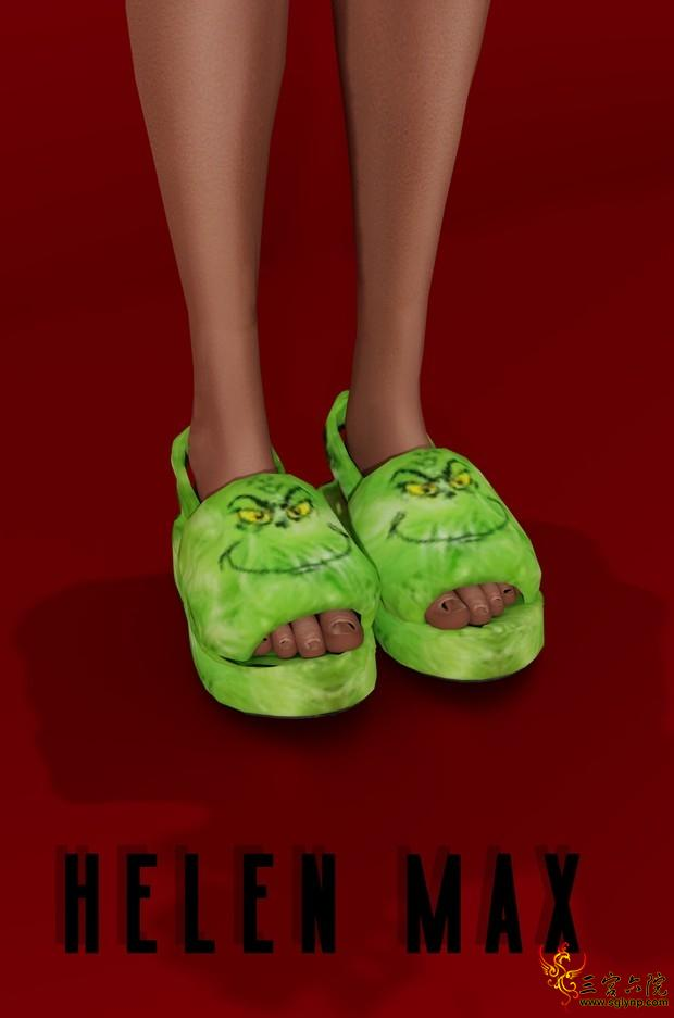 Helen Max_Grinch slippers.png