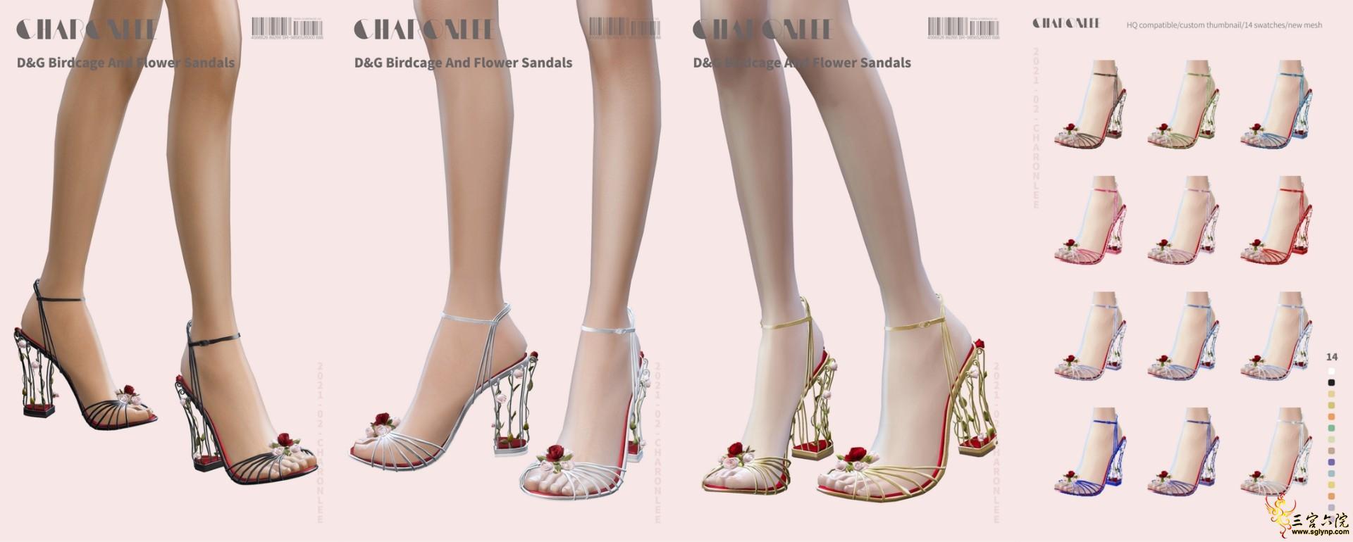 [CHARONLEE]2021-015-D&G Birdcage And Flower Sandals.jpg