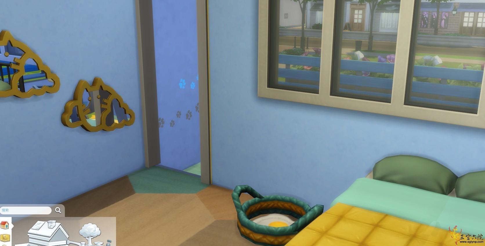 二楼喵喵睡觉的篮子和床.png