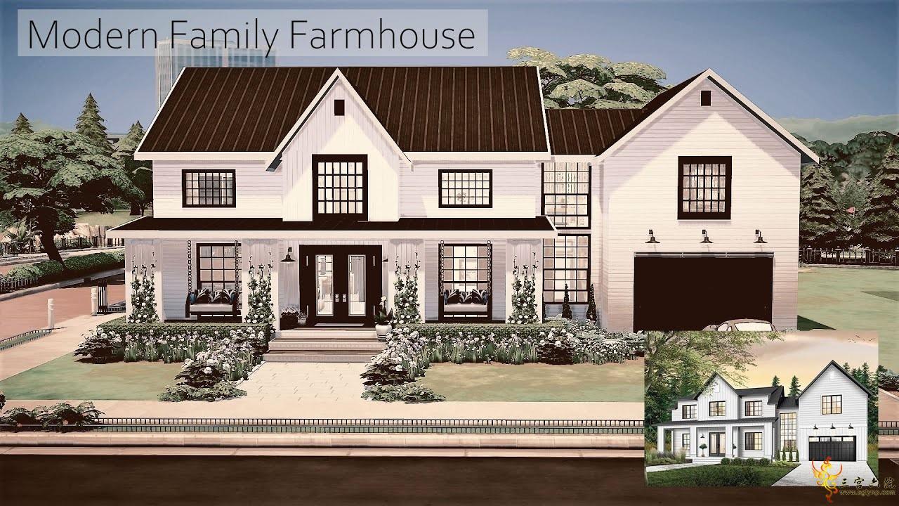 【外搬房屋】现代家庭农舍-Mossy Frey-40x30-NOCC│模拟人生4速建