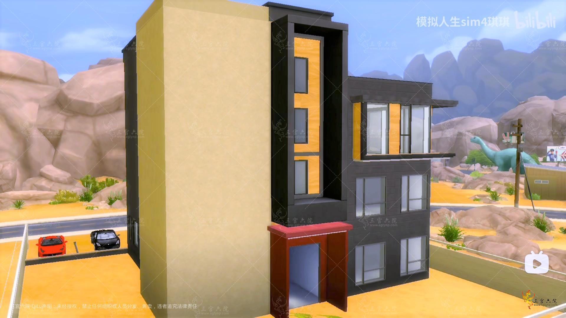 模拟人生4游戏房屋速建【现实房屋】_哔哩哔哩_bilibili 和另外 2 个页面 - 个人 - Mic.png