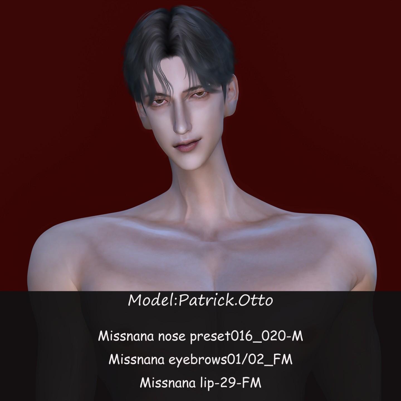 【娜娜小姐】五款男性欧美风鼻子预设+两款眉毛+一款口红