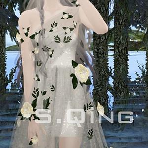 【S.Qing】仙女风♥花朵纱裙