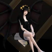【Septviven】天使与恶魔--翅膀+光环头饰+恶魔角+恶魔尾巴(男女通用)