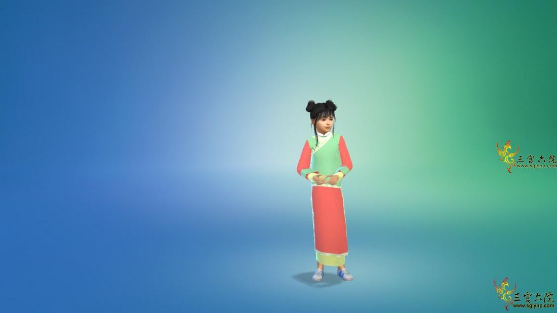 【古风系列】清朝小格格旗袍(儿童)