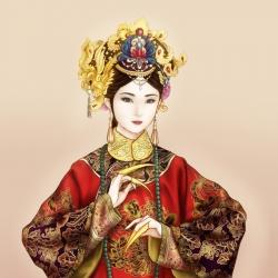 【板绘】清装皇后画像
