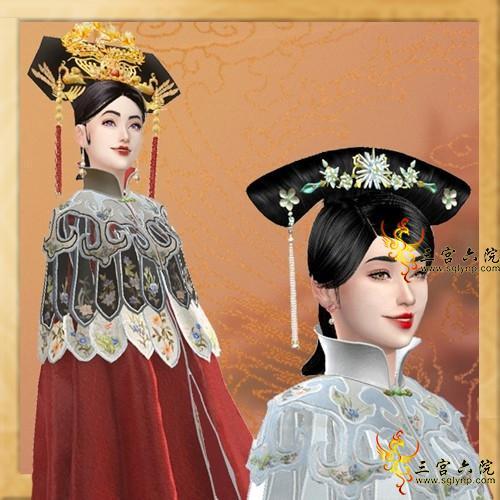 【清宫系列】----仿高贵妃----█ 华华丽丽的云肩披风 6色 █---------by jinqiuiqu